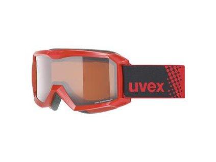 lyžařské brýle UVEX FLIZZ LG, red dl/lg-clear (3130) Množ. Uni
