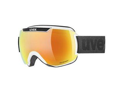 lyžařské brýle UVEX DOWNHILL 2000 CV, white black SL/orange-green (1230) Množ. Uni