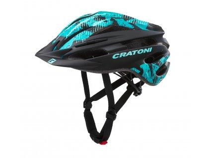 Cratoni PACER JR. - black-turquoise matt
