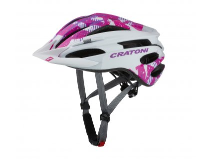 Cratoni PACER JR. - white-pink glossy