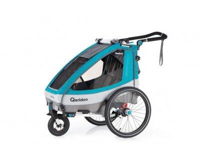 Qeridoo Vozík Sportrex1 - Petrol Blue