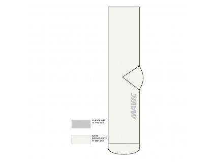 2021 MAVIC PONOŽKY ESSENTIAL STŘEDNÍ WHITE(LC1103700) 35/38