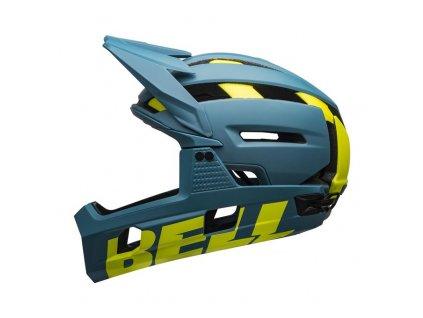 BELL Super Air R Spherical Mat/Glos Blue/Hi-Viz L