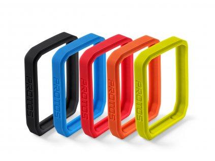 PROTOS Silikon-Set 5 barev (modrý,červený,zelený,černý,oranžový)