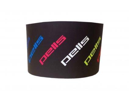 Čelenka PELLS Run černá s barevnými logy