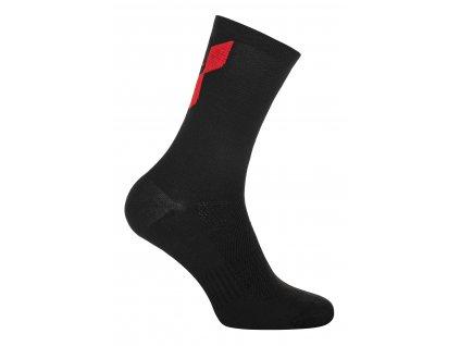 Ponožky PELLS Mask Black/Red