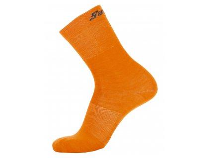 Wool Ponožky Fluo Orange
