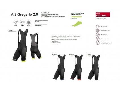 KRAŤASY AIS GREGARIO 2.0 ČERNÁ