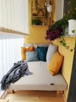 Matrace s polštáři na venkovní postel na balkon