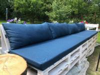 Sedáky a opěráky na paletové posezení