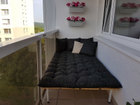 Velká polstr na postel na balkon
