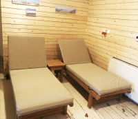 Outdoor polstry na lehátka do odpočinkové zóny k sauně