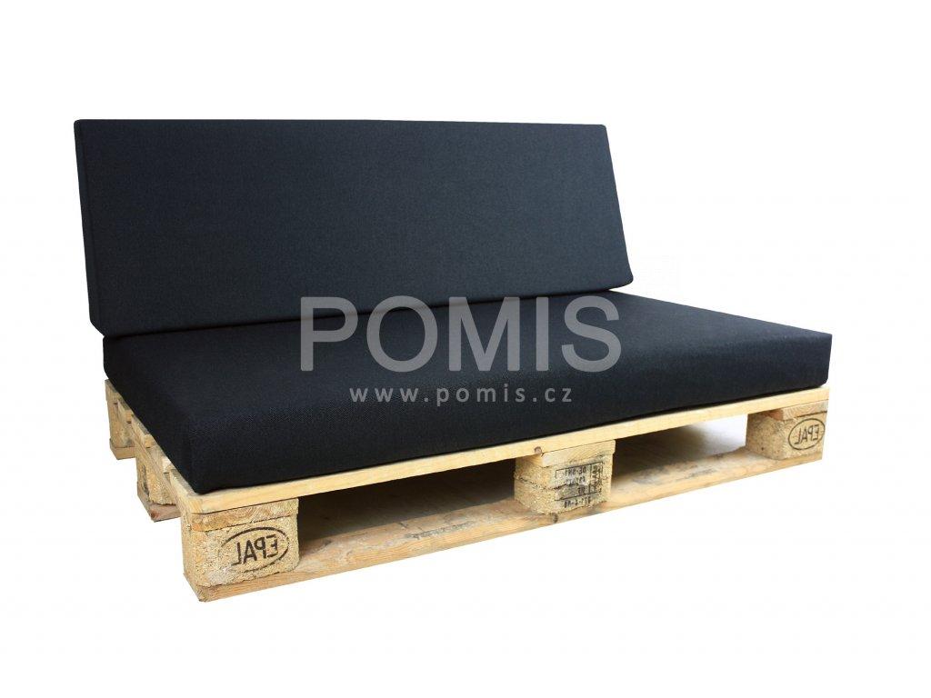 Outdoor polstr na paletový nábytek POMIS Black