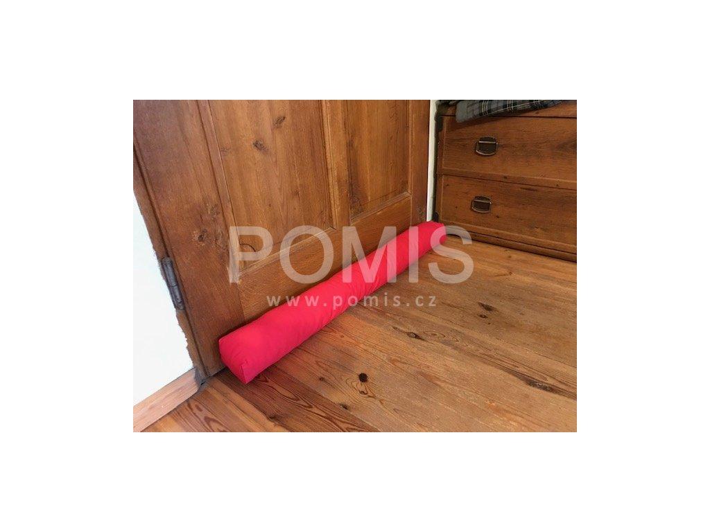 POMIS Ozdobný těsnící polštář proti průvanu Red