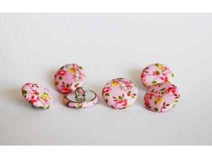 bervné kvítky růžové