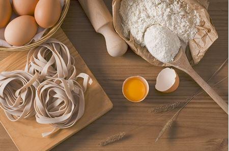 Těstoviny, mouky, škroby, vlákniny