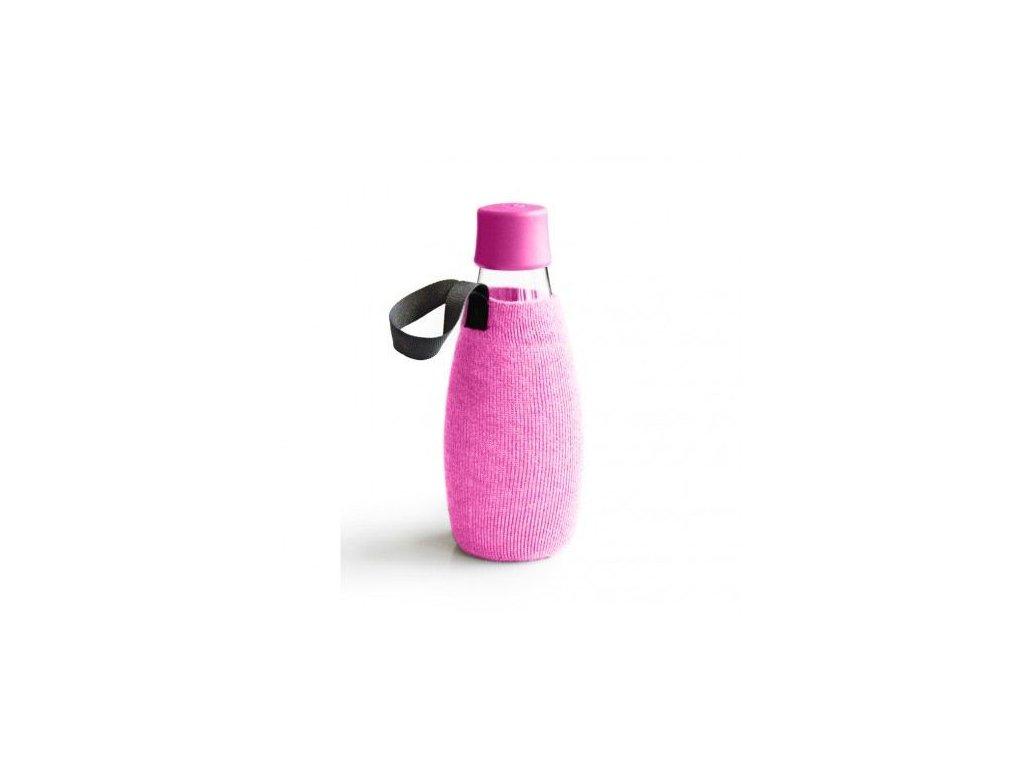 0004562 obal na lahev retap 05 l ruzovy uplet