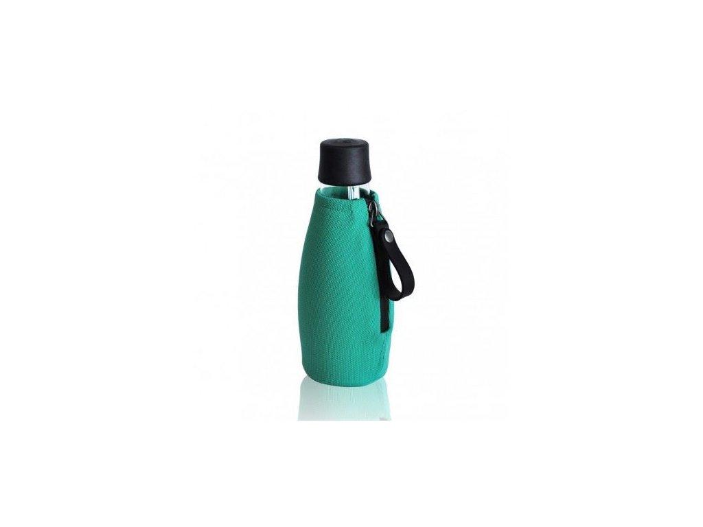 0011483 obal na lahev retap 05 l tyrkysovozeleny se zipem