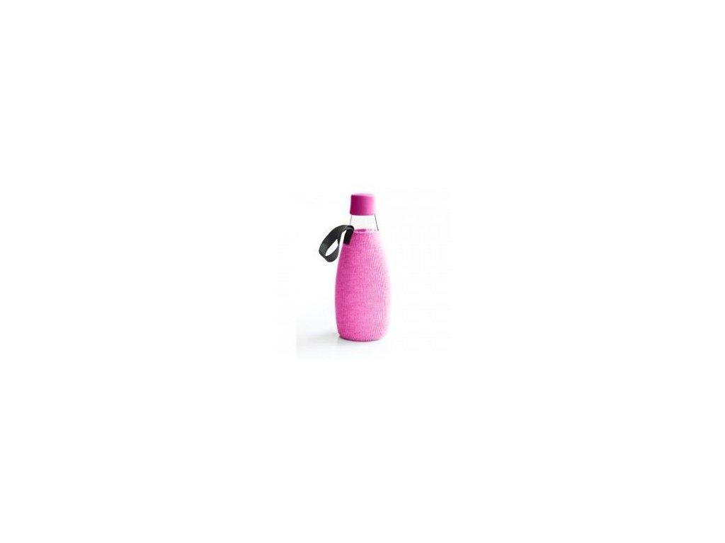 0004574 obal na lahev retap 08 l ruzovy uplet