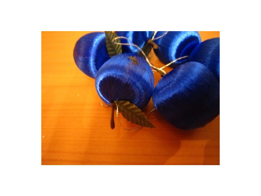 0002341 jablko nitene stredni tmave modre 6 ks