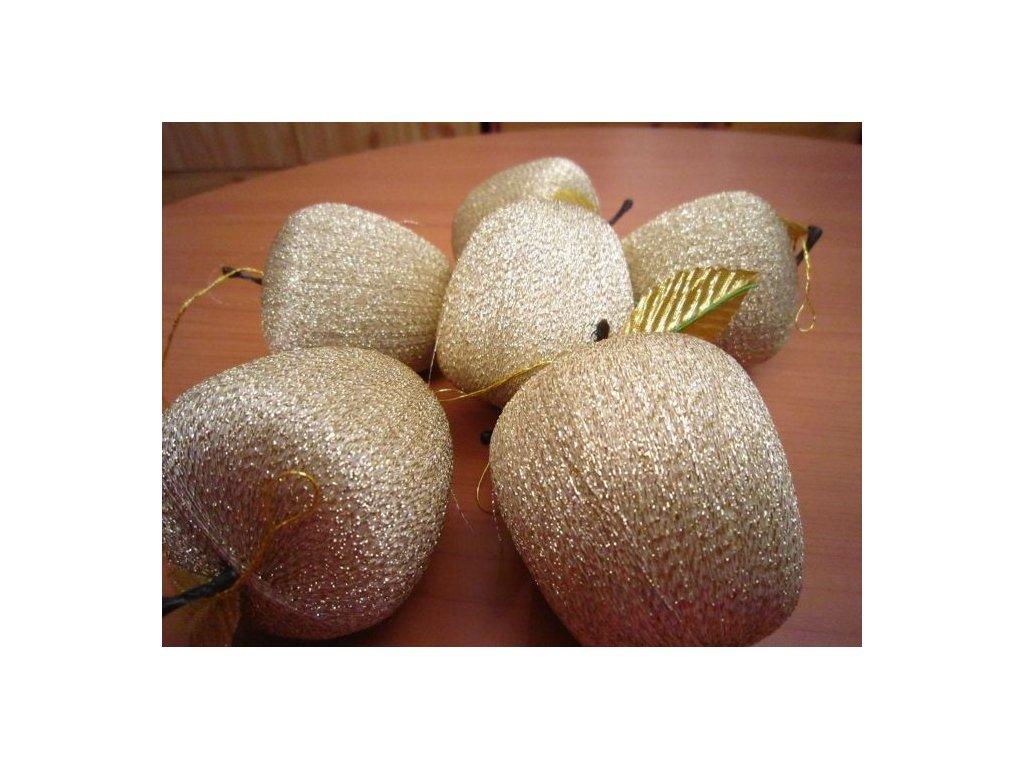 0002350 jablko nitene velke zlate 6 ks