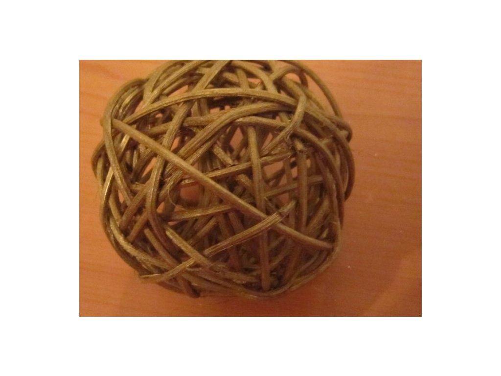 0000596 koule ratan zlata mat 7 cm