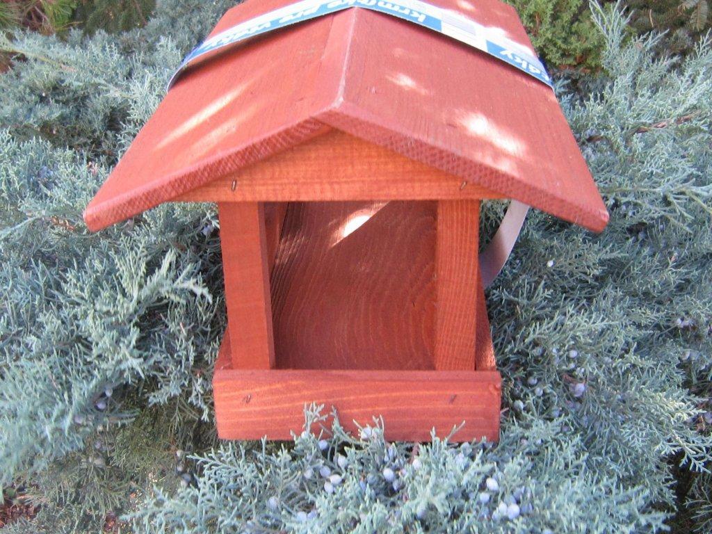 0007834 krmitko pro ptaky drevene c 18 hnede