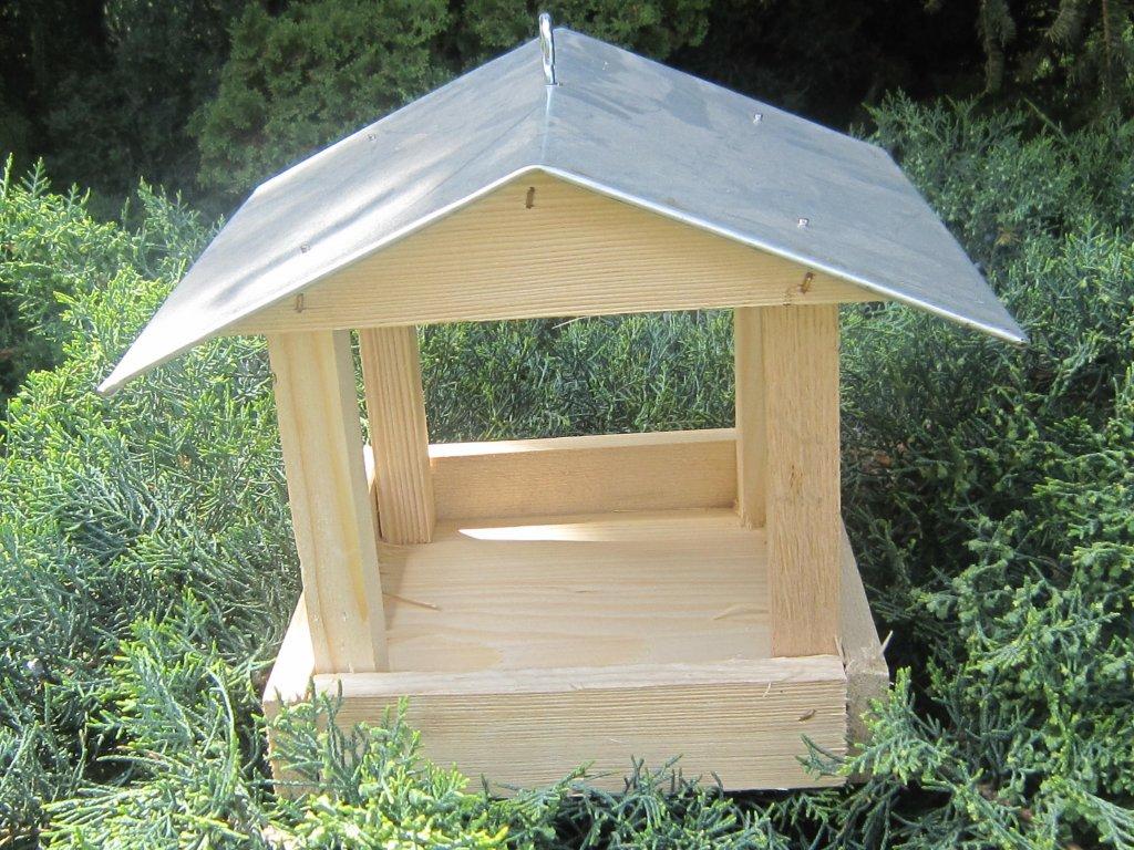 Krmítko pro ptáky dřevěné č. 3 pozink