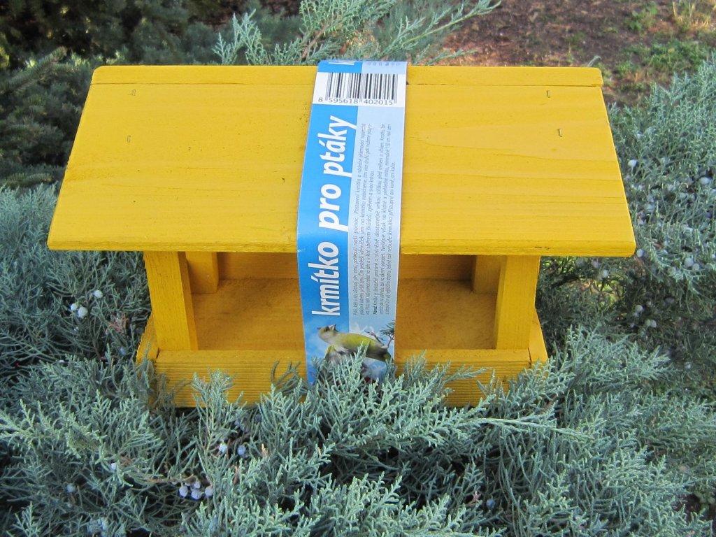 0007792 krmitko pro ptaky drevene c11 zlute