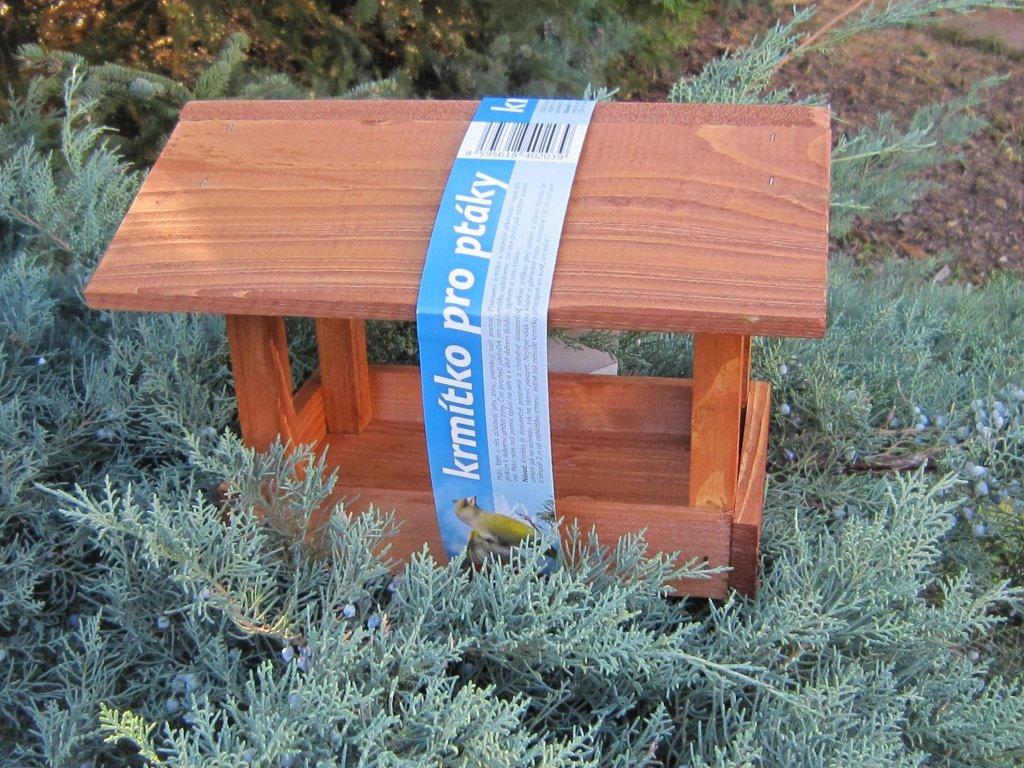 0007849 krmitko pro ptaky drevene c19 hnede