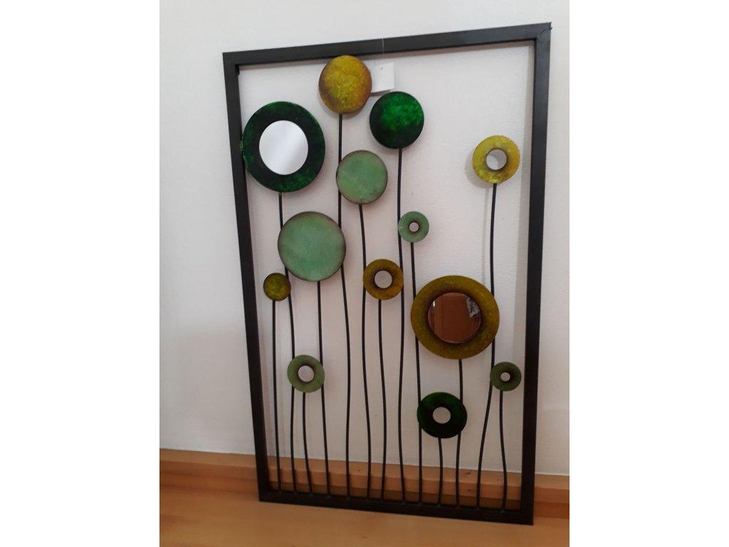 0007571 kvetinova kompozice kov a zrcadla b