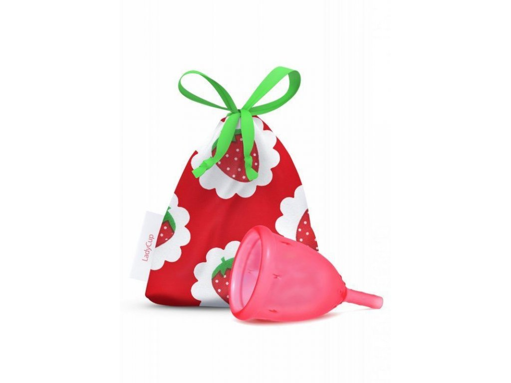 0008707 ladycup menstruacni kalisek jahoda velky