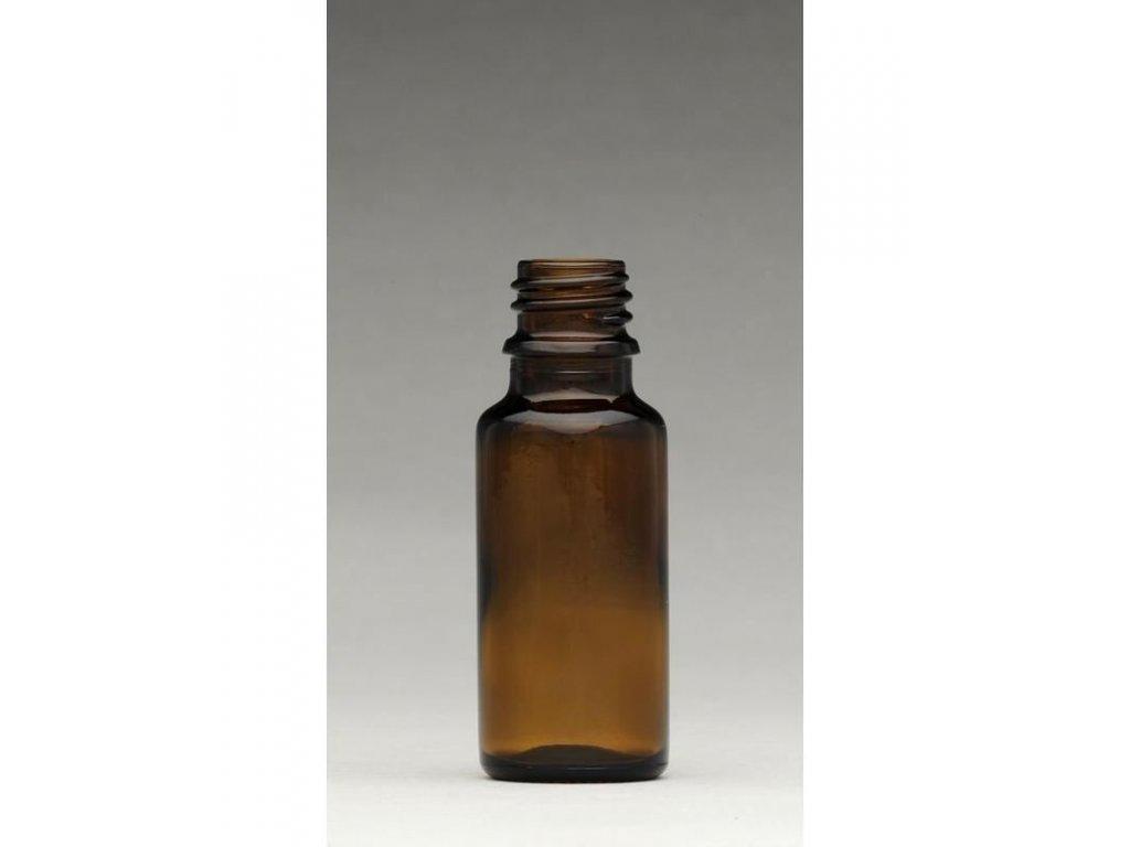 0000960 lahvicka s kapatkem sklenena tmava 20 ml