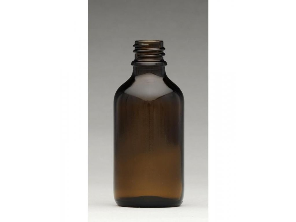 0004332 lahvicka s kapatkem sklenena tmava 50 ml