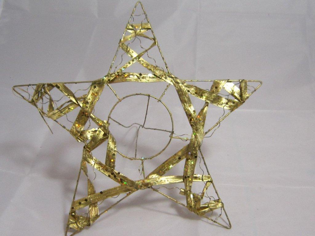 0003926 manzeta hvezda zlacena