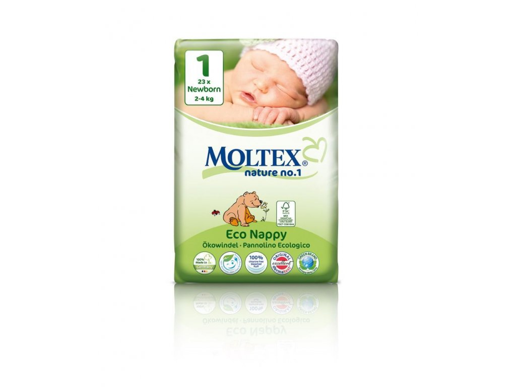 0005345 moltex nature no 1 newborn 2 4 kg detske plenky 23 ks