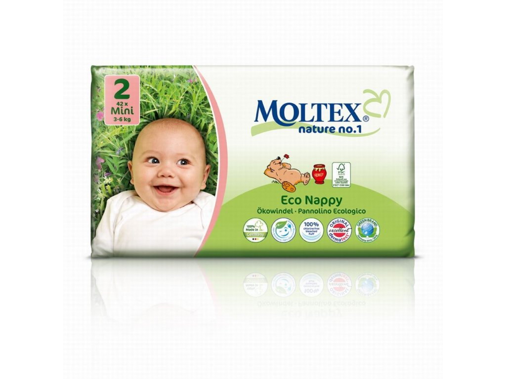 0005356 moltex nature no 2 mini 3 6 kg detske plenky 42 ks