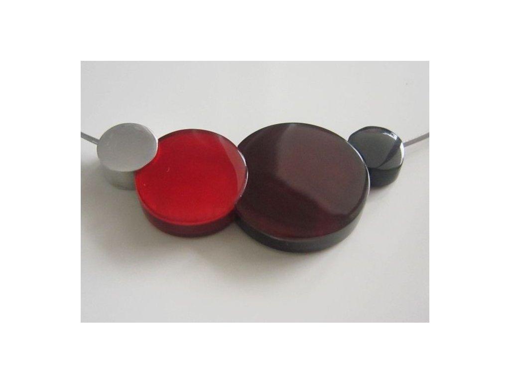 0002834 nahrdelnik 4 circles cerveno bordo