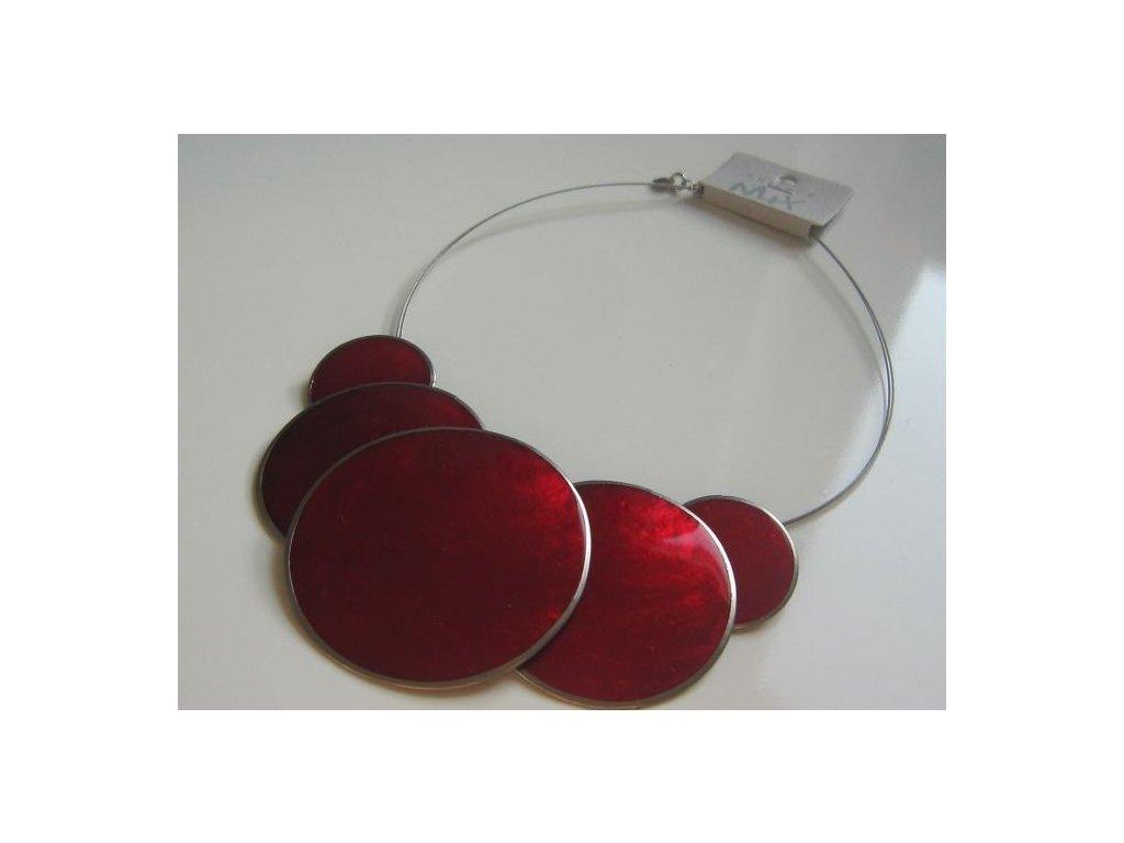 0002838 nahrdelnik 5 circles cerveny
