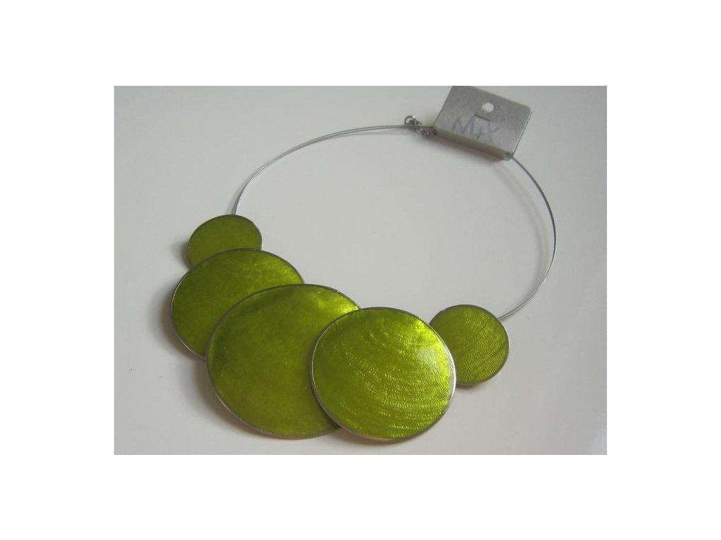 0002841 nahrdelnik 5 circles zeleny
