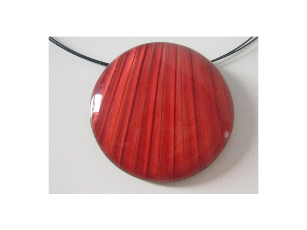 0002892 nahrdelnik palm leaf cerveny