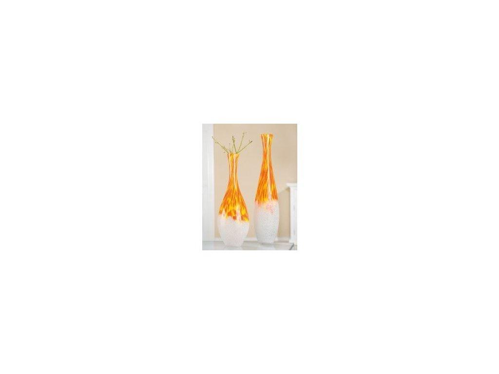0007337 napadita oranzovo bila vaza puntine lahev