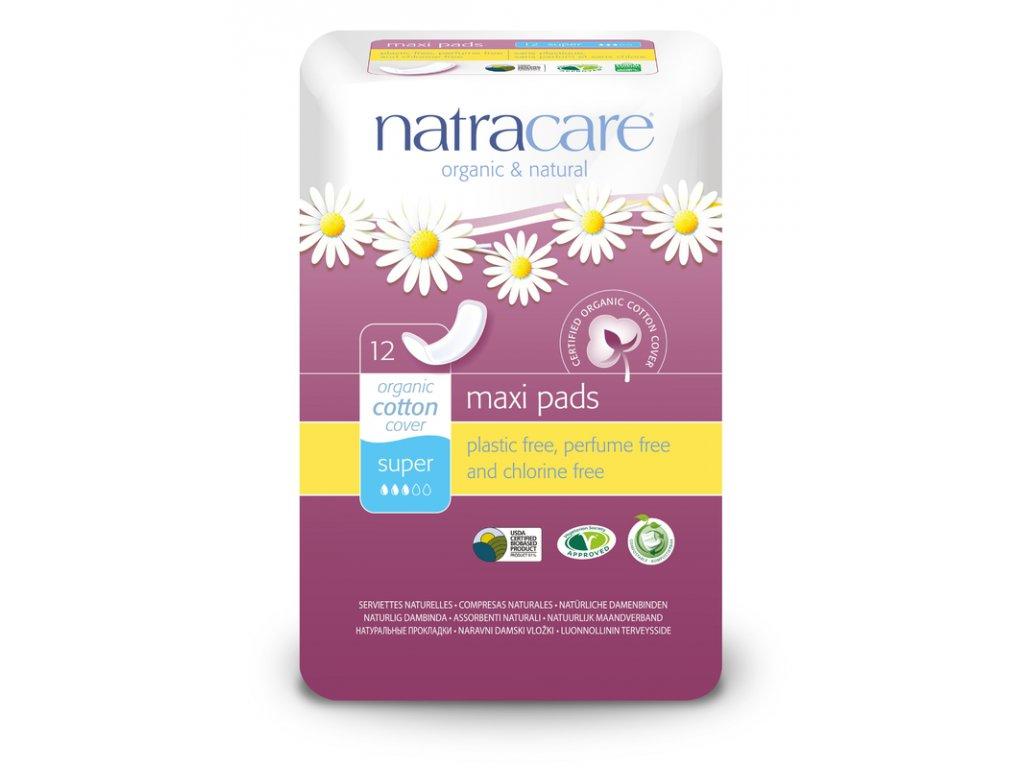 0006037 natracare menstruacni vlozky maxi super bez kridelek 12 ks