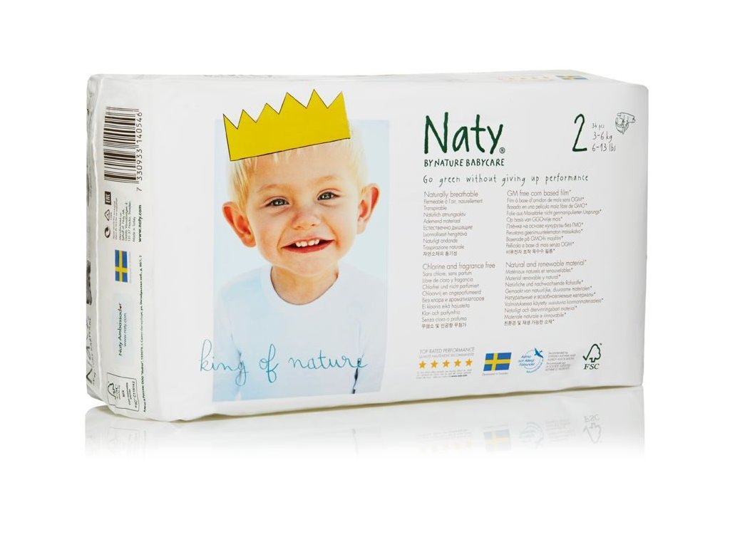 0005388 naty nature babycare mini 3 6 kg detske plenky 34 ks