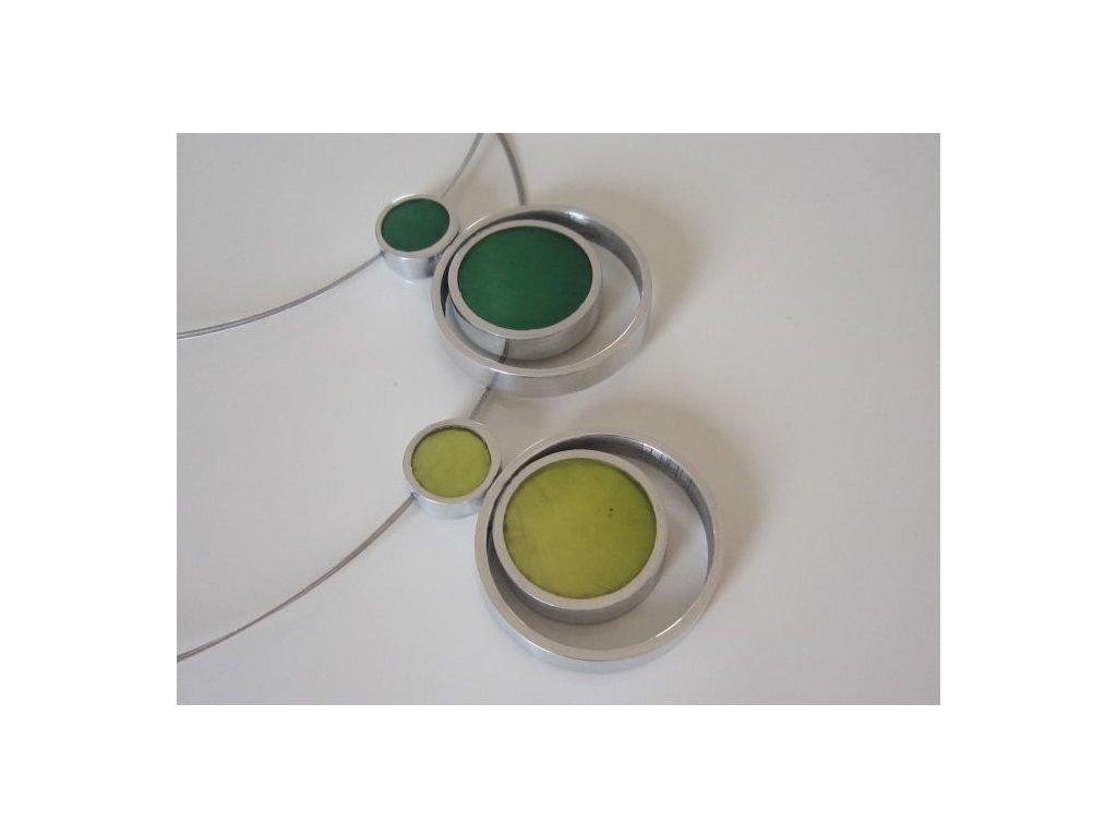 0003014 oboustranny nahrdelnik pendant smaragd lime
