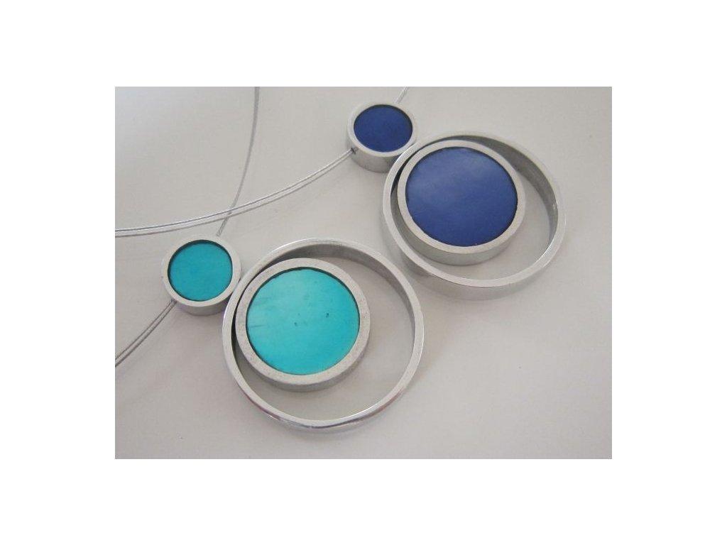 0003015 oboustranny nahrdelnik pendant tyrkys modra