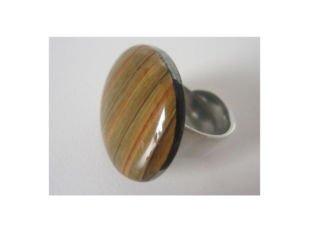0003034 prsten palm leaf hnedy