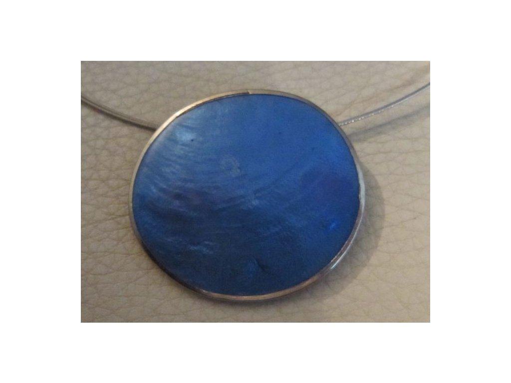0003050 prirodni sperk small pendant modry