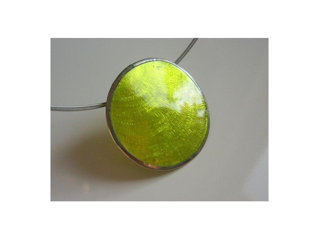0003052 prirodni sperk small pendant zeleny