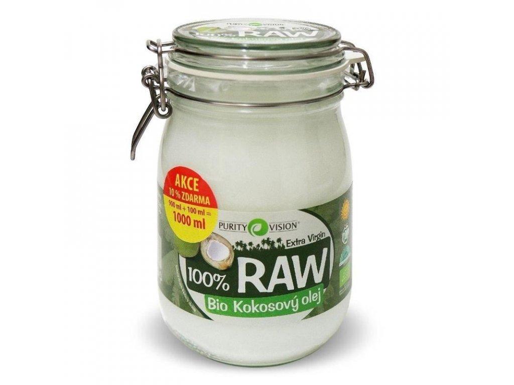 0011786 raw kokosovy olej bio 900 100 ml